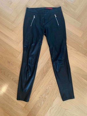 HUGO Hugo Boss Pantalone in pelle nero Finta pelle