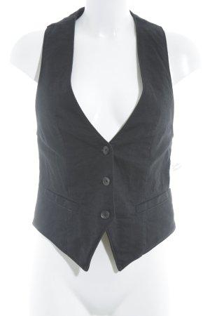 HUGO Hugo Boss Gilet en jean noir style d'affaires