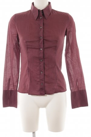 HUGO Hugo Boss Langarm-Bluse braunviolett Business-Look