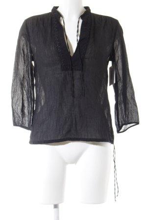 HUGO Hugo Boss Langarm-Bluse schwarz klassischer Stil