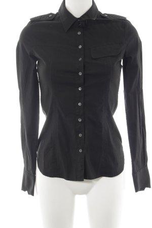 HUGO Hugo Boss Langarmhemd schwarz schlichter Stil
