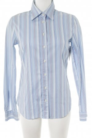 HUGO Hugo Boss Langarmhemd weiß-hellblau Streifenmuster Casual-Look
