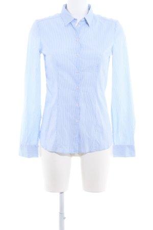 HUGO Hugo Boss Chemise à manches longues blanc-bleu azur style d'affaires