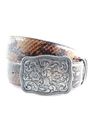 HUGO Hugo Boss Leather Belt animal pattern extravagant style