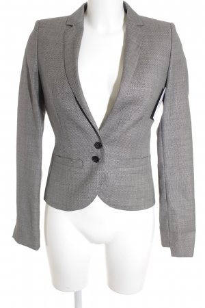HUGO Hugo Boss Long-Blazer hellgrau-schwarz meliert Business-Look
