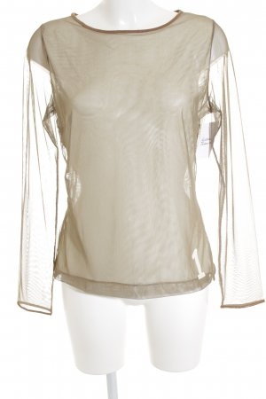 HUGO Hugo Boss Mesh Shirt beige-oatmeal transparent look