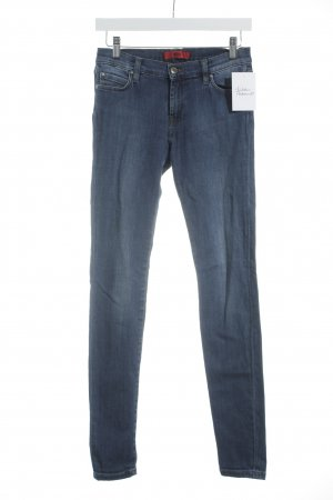 HUGO Hugo Boss Skinny Jeans blau-wollweiß Washed-Optik