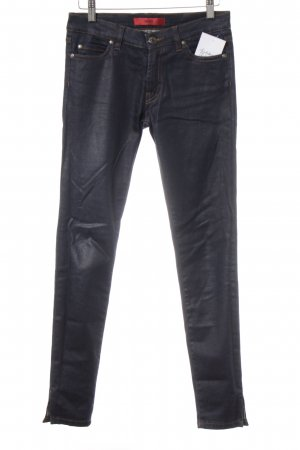 HUGO Hugo Boss Slim Jeans dunkelblau Matt-Optik