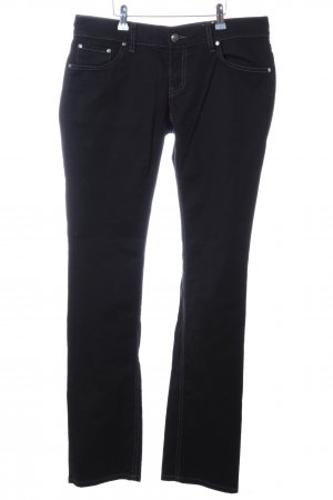 HUGO Hugo Boss Straight-Leg Jeans schwarz Casual-Look