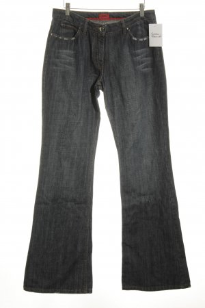 HUGO Hugo Boss Straight-Leg Jeans dunkelblau Street-Fashion-Look