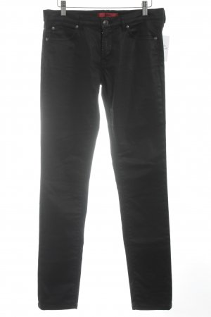 HUGO Hugo Boss Straight-Leg Jeans schwarz Glanz-Optik