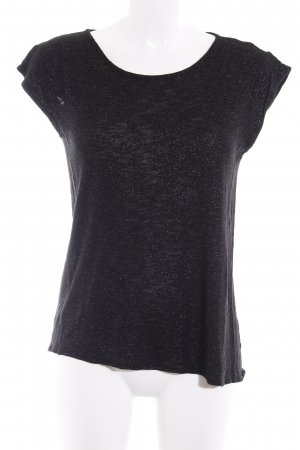 HUGO Hugo Boss Camiseta negro-color plata look casual