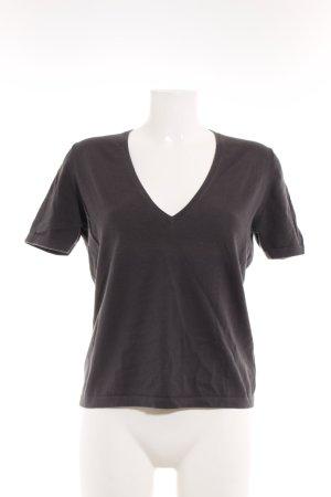HUGO Hugo Boss V-Ausschnitt-Shirt graublau Casual-Look