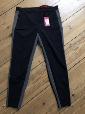 Hugo Boss Pantalone peg-top nero-marrone chiaro Lycra