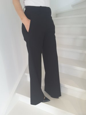 HUGO wide leg pants in schwarz