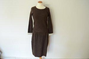 Humanoid Sweater Dress dark brown mixture fibre