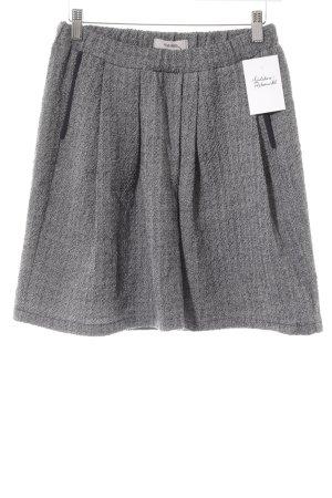Humanoid Wool Skirt grey-black flecked casual look