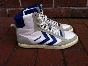 Humel Retro Sneaker blau weiß Hi Top