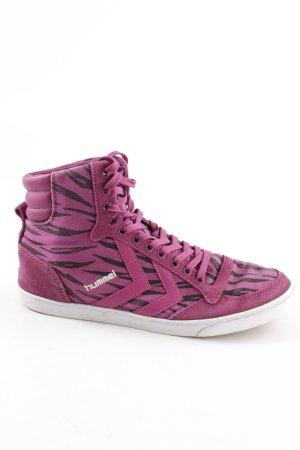 Hummel High Top Sneaker pink-schwarz Allover-Druck Casual-Look