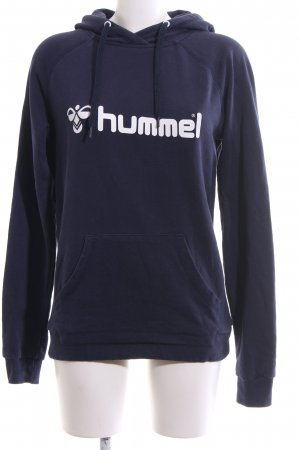 Hummel Hooded Sweatshirt blue-white themed print casual look