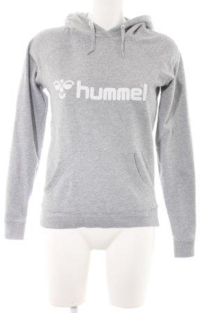 Hummel Kapuzensweatshirt hellgrau sportlicher Stil