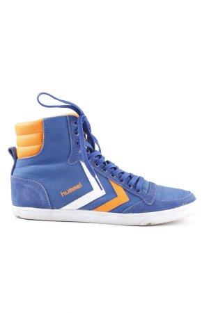 Hummel Schnürsneaker orange-blau Casual-Look