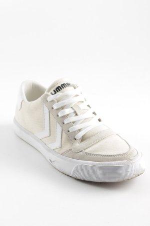 Hummel Schnürsneaker weiß-hellgelb sportlicher Stil