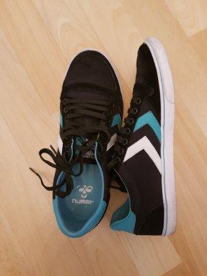 Hummel Sneaker, 39, schwarz-türkis