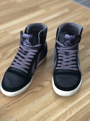 Hummel Zapatillas altas lila grisáceo-negro