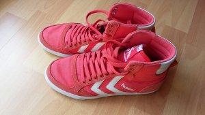 Hummel Sneaker rot mit hohem Schaft