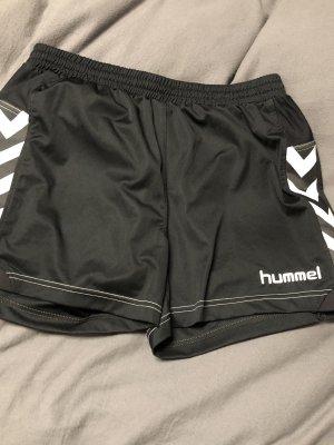 Hummel Pantalone da ginnastica nero-bianco