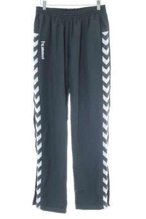 Hummel Sporthose schwarz-weiß Zackenmuster schlichter Stil