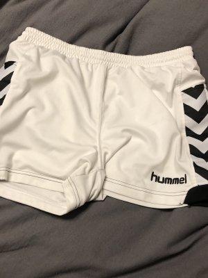 Hummel Sporthose weiß schwarz, L