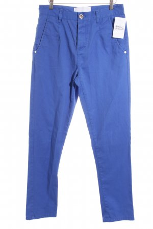 Humör High-Waist Hose blau Casual-Look
