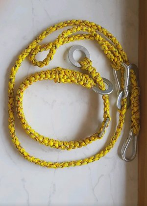 Braided Belt yellow-lime yellow