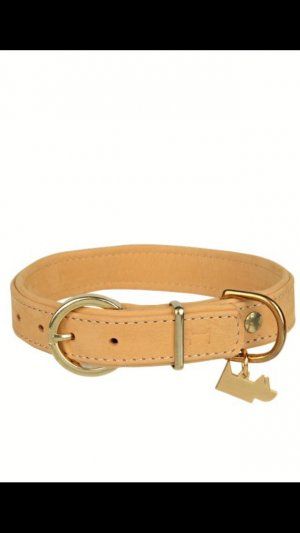 Key Chain camel-sand brown leather