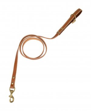 Key Chain brown-cognac-coloured leather