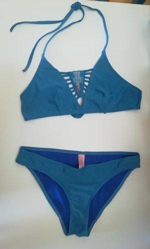 Hunkemöller Bikini azul acero