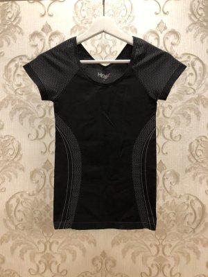 Hunkemöller HKMX Sport Shirt in schwarz/grau