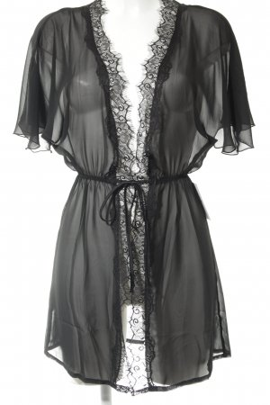 Hunkemöller Kimono black transparent look