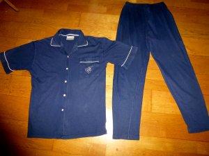Hunkemöller Pyjama donkerblauw Katoen