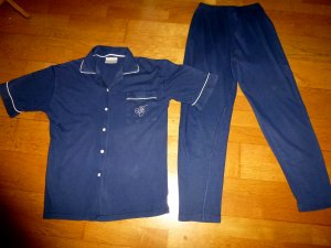 Hunkemöller Pijama azul oscuro Algodón
