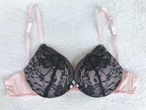 Hunkemöller Brassier negro-rosa claro poliamida