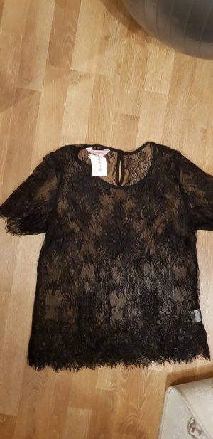 hunkemöller T-Shirt aus Spitze schwarz M