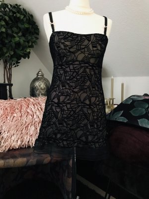 Hunkemöller Fond de robe noir-rose clair
