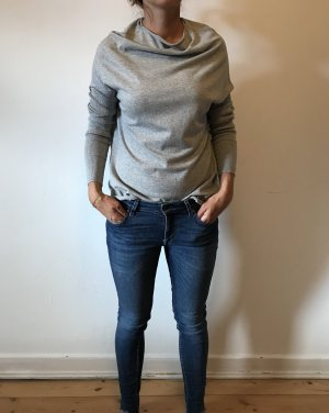 Hunkydory Long Top light grey-silver-colored