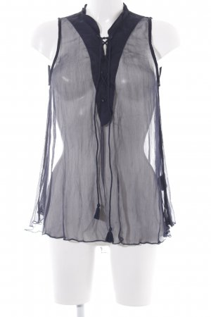 Hunkydory Blouse transparente bleu foncé style transparent