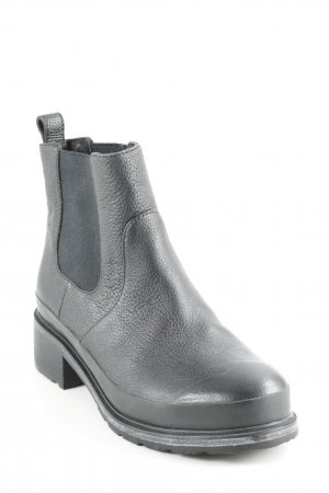 Hunter Booties schwarz Street-Fashion-Look