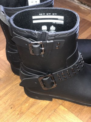 Hunter Botas elásticas negro-color plata