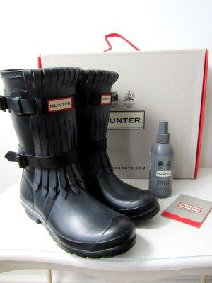 HUNTER  boots fringe black adjustable 37 inkl. buffer spray
